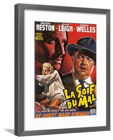 Touch of Evil, (aka La Soif Du Mal), Janet Leigh, Charlton Heston, Orson Welles, 1958--Framed Art Print