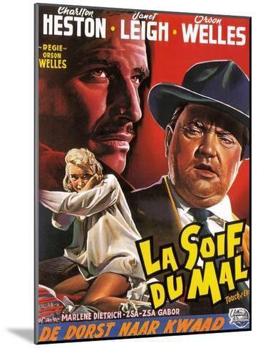Touch of Evil, (aka La Soif Du Mal), Janet Leigh, Charlton Heston, Orson Welles, 1958--Mounted Giclee Print