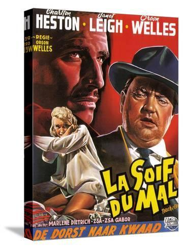 Touch of Evil, (aka La Soif Du Mal), Janet Leigh, Charlton Heston, Orson Welles, 1958--Stretched Canvas Print