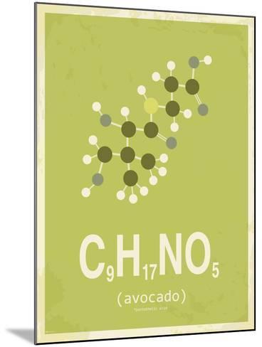 Avocado-TypeLike-Mounted Art Print