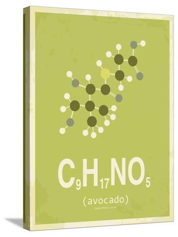 Avocado-TypeLike-Stretched Canvas Print