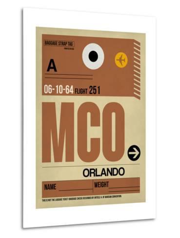 MCO Orlando Luggage Tag I-NaxArt-Metal Print
