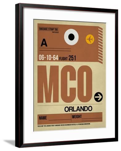 MCO Orlando Luggage Tag I-NaxArt-Framed Art Print