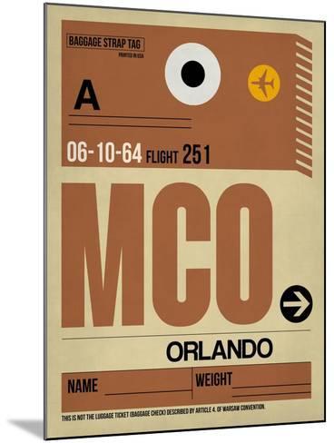 MCO Orlando Luggage Tag I-NaxArt-Mounted Art Print