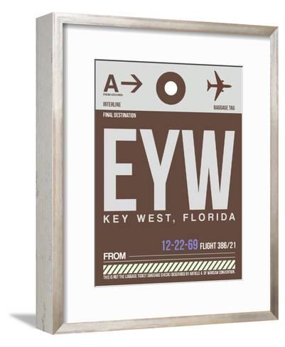 EYW Key West Luggage Tag II-NaxArt-Framed Art Print