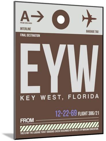 EYW Key West Luggage Tag II-NaxArt-Mounted Art Print
