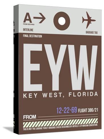 EYW Key West Luggage Tag II-NaxArt-Stretched Canvas Print