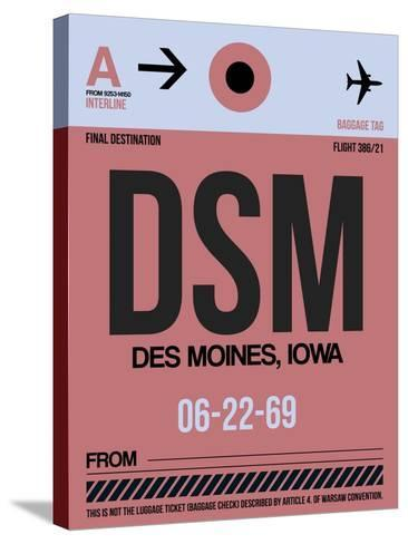 DSM Des Moines Luggage Tag I-NaxArt-Stretched Canvas Print