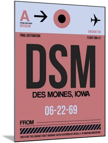 DSM Des Moines Luggage Tag I-NaxArt-Mounted Art Print