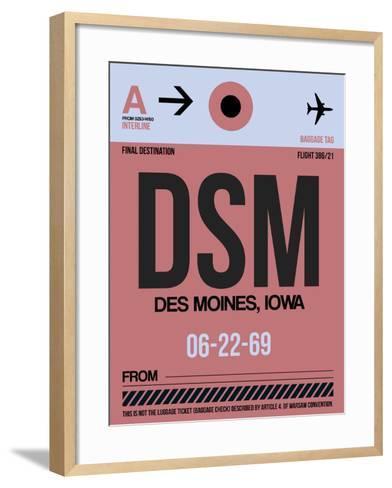 DSM Des Moines Luggage Tag I-NaxArt-Framed Art Print