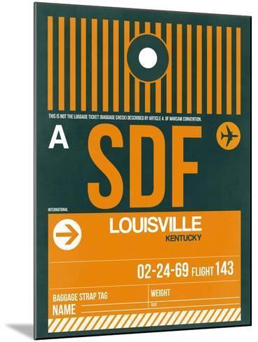 SDF Louisville Luggage Tag I-NaxArt-Mounted Art Print