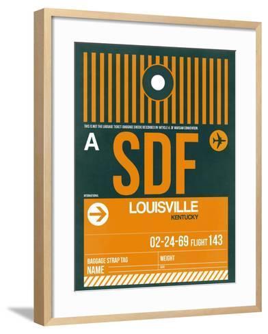 SDF Louisville Luggage Tag I-NaxArt-Framed Art Print