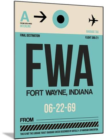 FWA Fort Wayne Luggage Tag I-NaxArt-Mounted Art Print
