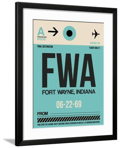 FWA Fort Wayne Luggage Tag I-NaxArt-Framed Art Print