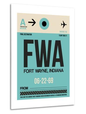FWA Fort Wayne Luggage Tag I-NaxArt-Metal Print