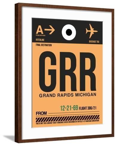 GRR Grand Rapids Luggage Tag I-NaxArt-Framed Art Print