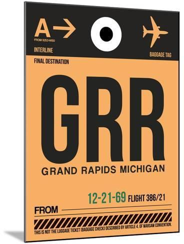 GRR Grand Rapids Luggage Tag I-NaxArt-Mounted Art Print