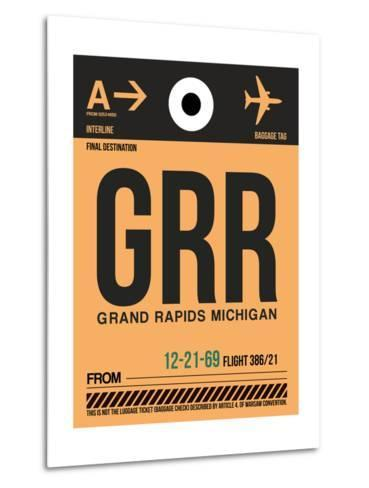 GRR Grand Rapids Luggage Tag I-NaxArt-Metal Print