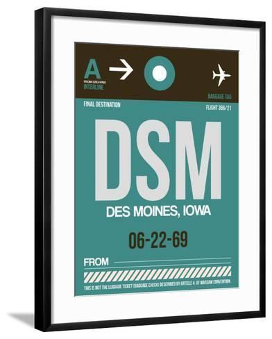DSM Des Moines Luggage Tag II-NaxArt-Framed Art Print