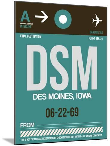 DSM Des Moines Luggage Tag II-NaxArt-Mounted Art Print