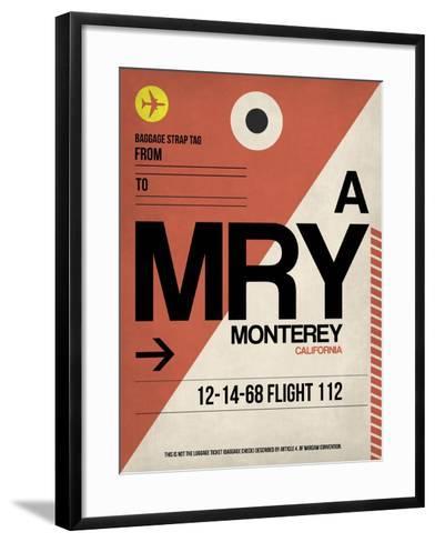 MRY Monterey Luggage Tag I-NaxArt-Framed Art Print