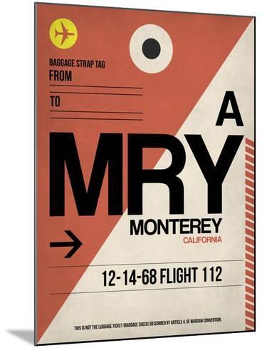 MRY Monterey Luggage Tag I-NaxArt-Mounted Art Print