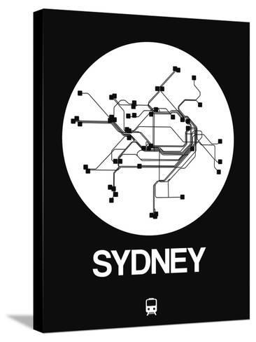 Sydney White Subway Map-NaxArt-Stretched Canvas Print