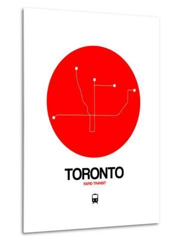 Toronto Red Subway Map-NaxArt-Metal Print