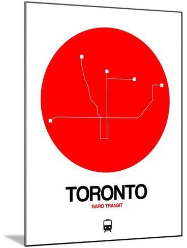 Toronto Red Subway Map-NaxArt-Mounted Art Print