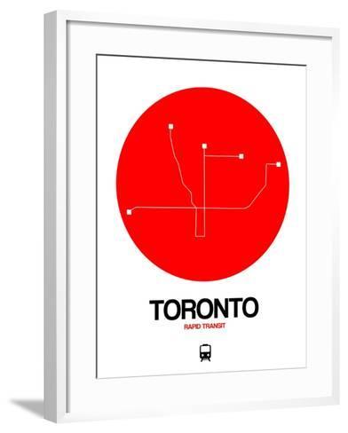 Toronto Red Subway Map-NaxArt-Framed Art Print