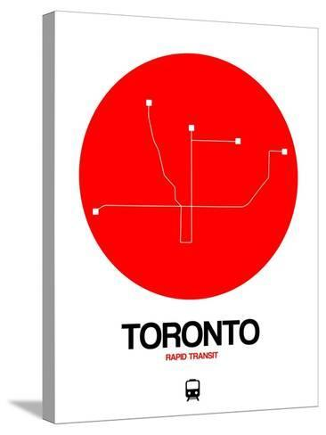 Toronto Red Subway Map-NaxArt-Stretched Canvas Print