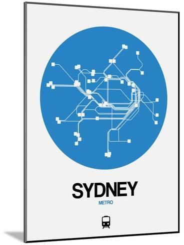 Sydney Blue Subway Map-NaxArt-Mounted Art Print