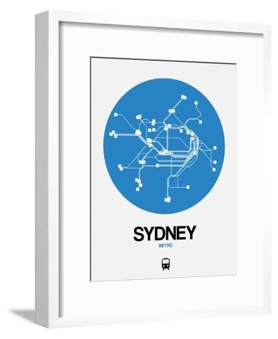 Sydney Blue Subway Map-NaxArt-Framed Art Print