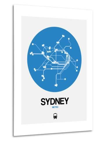 Sydney Blue Subway Map-NaxArt-Metal Print