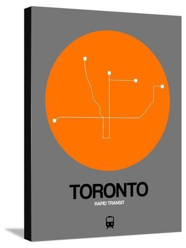Toronto Orange Subway Map-NaxArt-Stretched Canvas Print