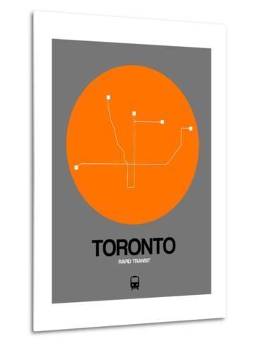 Toronto Orange Subway Map-NaxArt-Metal Print