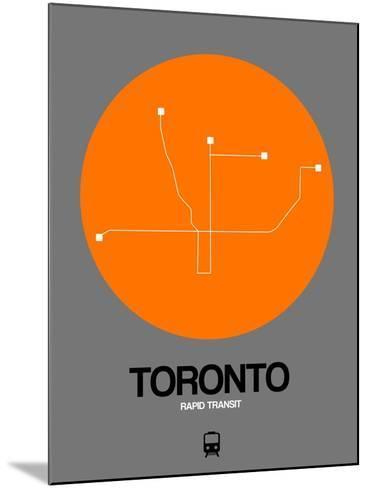 Toronto Orange Subway Map-NaxArt-Mounted Art Print