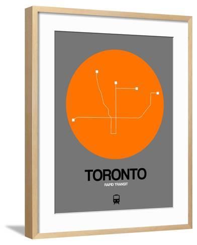 Toronto Orange Subway Map-NaxArt-Framed Art Print