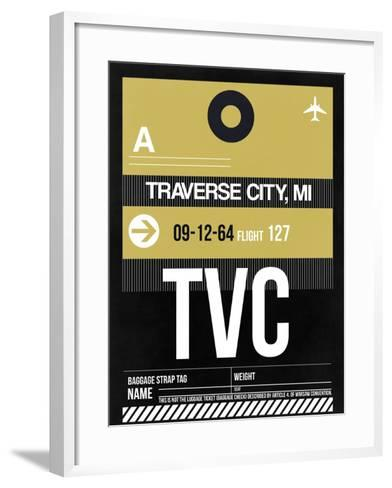 TVC Traverse City Luggage Tag II-NaxArt-Framed Art Print