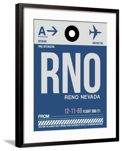 RNO Reno Luggage Tag II-NaxArt-Framed Art Print