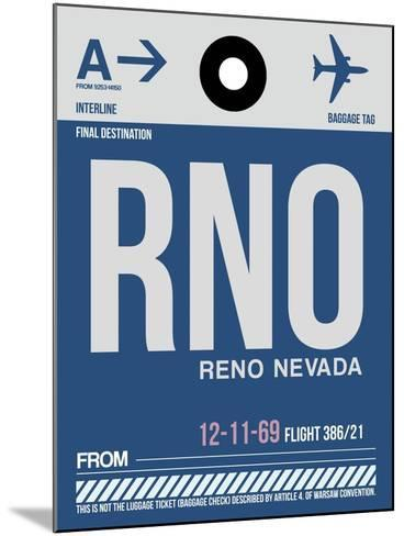 RNO Reno Luggage Tag II-NaxArt-Mounted Art Print