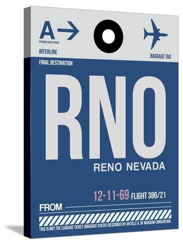 RNO Reno Luggage Tag II-NaxArt-Stretched Canvas Print