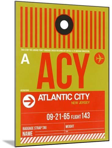 ACY Atlantic City Luggage Tag I-NaxArt-Mounted Art Print