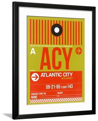 ACY Atlantic City Luggage Tag I-NaxArt-Framed Art Print