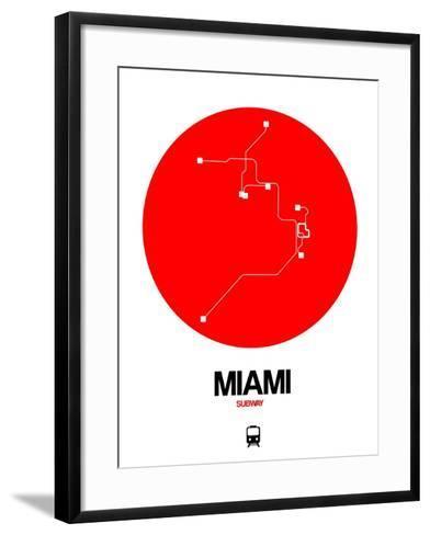 Miami Red Subway Map-NaxArt-Framed Art Print
