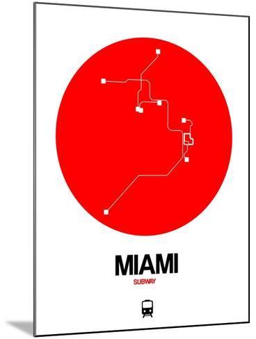 Miami Red Subway Map-NaxArt-Mounted Art Print