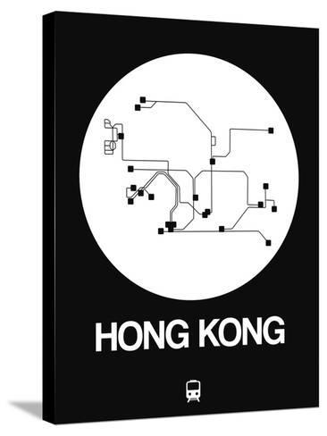 Hong Kong White Subway Map-NaxArt-Stretched Canvas Print