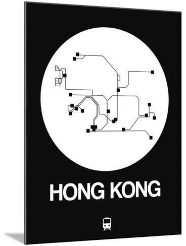 Hong Kong White Subway Map-NaxArt-Mounted Art Print