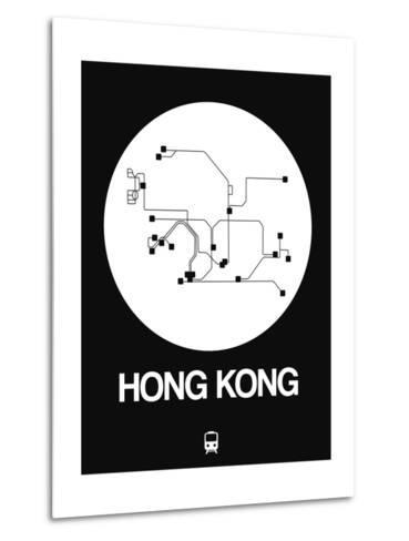 Hong Kong White Subway Map-NaxArt-Metal Print
