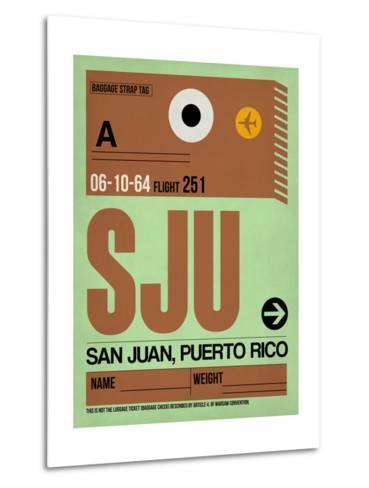 SJU San Juan Luggage Tag I-NaxArt-Metal Print
